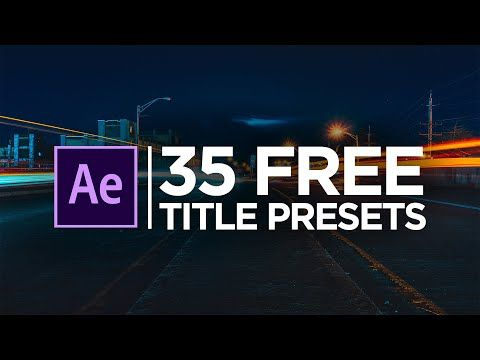 35 Free Modern Clean Minimal Title Animation Presets Pack