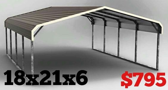 Metal Covered Shelters : Details about rv cover carport metal building steel