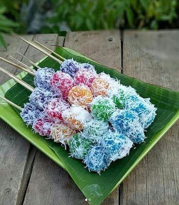 Sate Singkong Pelangi Resep Kue Pelangi Makanan Ringan Gurih