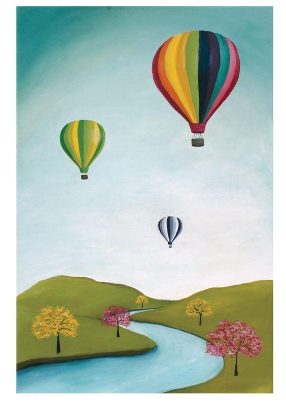 hot air balloon painting artsy pinterest f r kinder. Black Bedroom Furniture Sets. Home Design Ideas