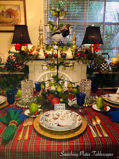 Smashing Plates Tablescapes The Twelve Days Of Christmas Twelve Days Of Christmas Christmas Table Settings Christmas Table