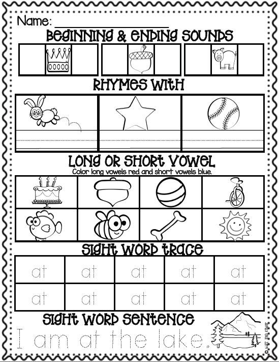Morning Work for Kindergarten Kids! Phonics and Sight Words :: Buzz Into Kinder on TPT