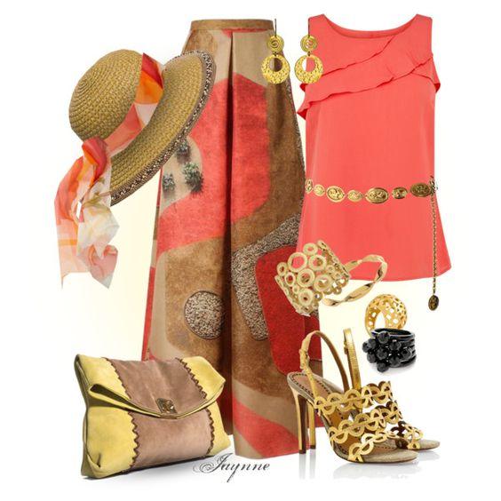 'Maxi Split Style Skirt', created by ladyjaynne on Polyvore