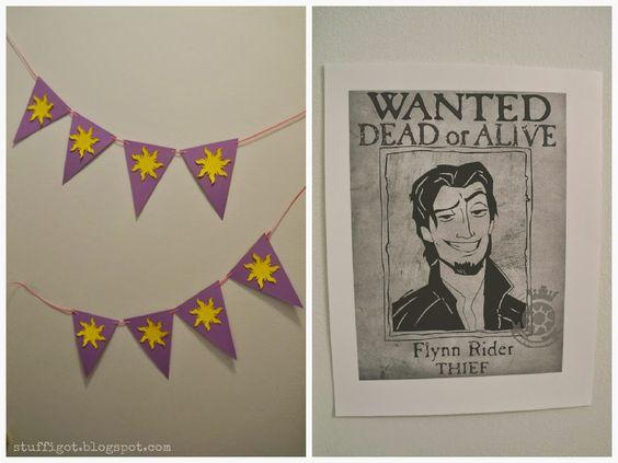 Tangled Bathroom Decorations #banner #flynnrider #DisneySide