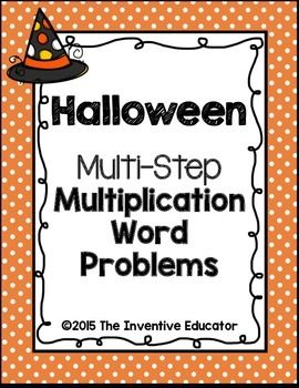 Halloween Multiplication Word Problems | The o'jays, Halloween and ...