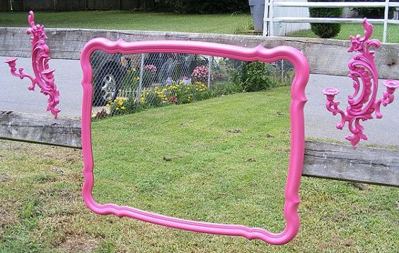 Beautiful Pink French Provincial Mirror by CreationsbyTSquared, $125.00