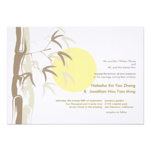 Sunrise Bamboo Zen Tropical Nature Chinese Wedding