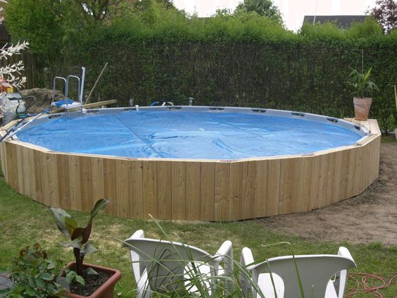 Intex Frame Pool in Erde einlassen Ideas for the House