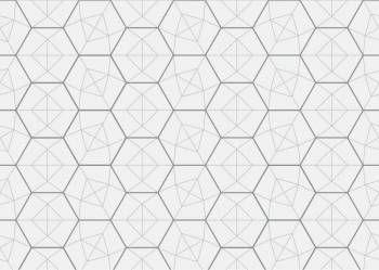 Estampado com linhas geométricas, o papel HEXÁGONO é perfeito para uma decoração contemporânea.
