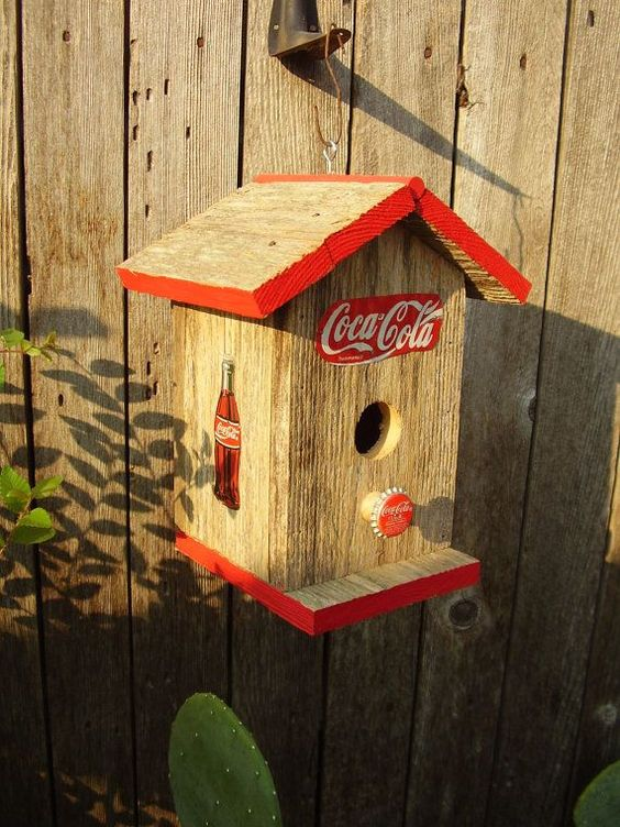 Primitive Coca Cola Bird House