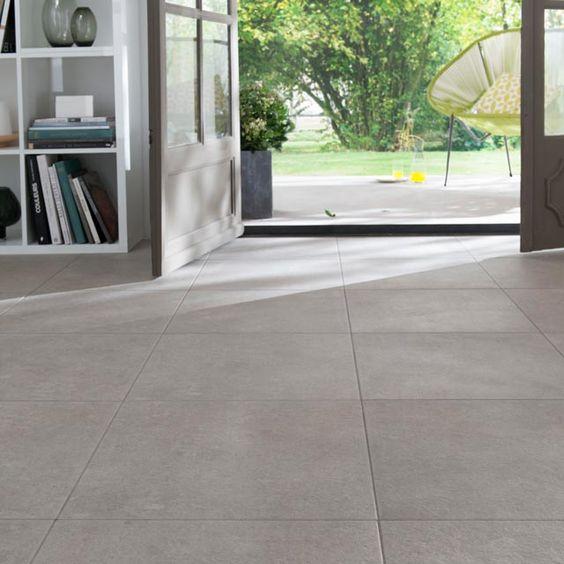 Carrelage spazio beige 45 x 45 cm castorama carrelage for Carrelage beton cire beige