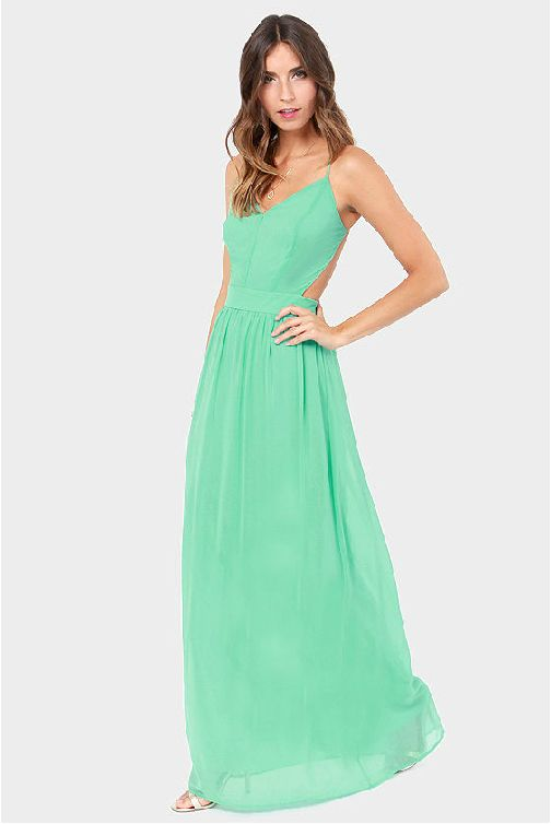 Spaghetti Strap Backless Pleated Maxi Long Party Beach Dress