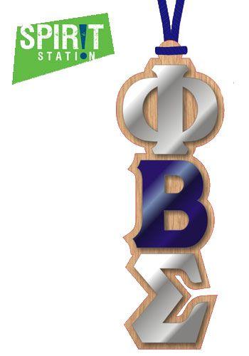 Phi Beta Sigma Wood Letter Medallion