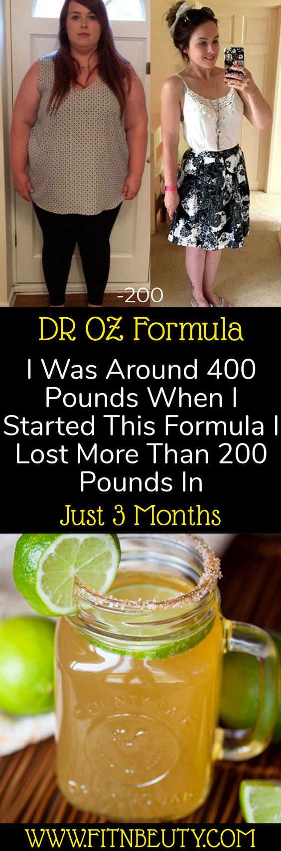 DR OZ Formula I Was Around 400 Pounds When I Started This Formula I Lost More Than 200 Pounds In Just 3 Months