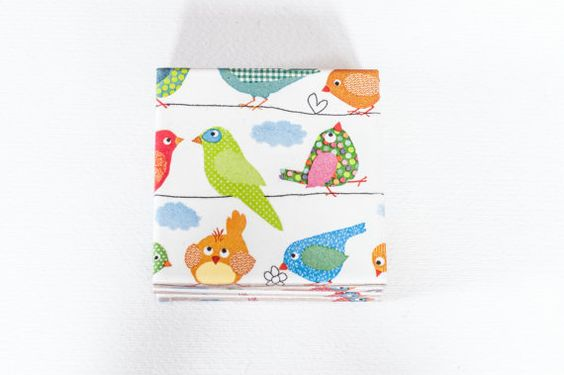 Birds On The Wire Ceramic Coasters Set of 4