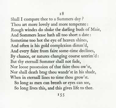 An insight of the shall i compare thee to a summers day by william shakespeare