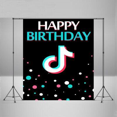 Tik Tok Photography Backdrop Music Video Happy Birthday Party Photo Background Birthday Party Gift Happy Birthday Parties Cute Birthday Cards