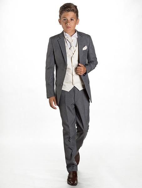 Boys grey suit | 5 pc suit | slim fit suit | page boy suit
