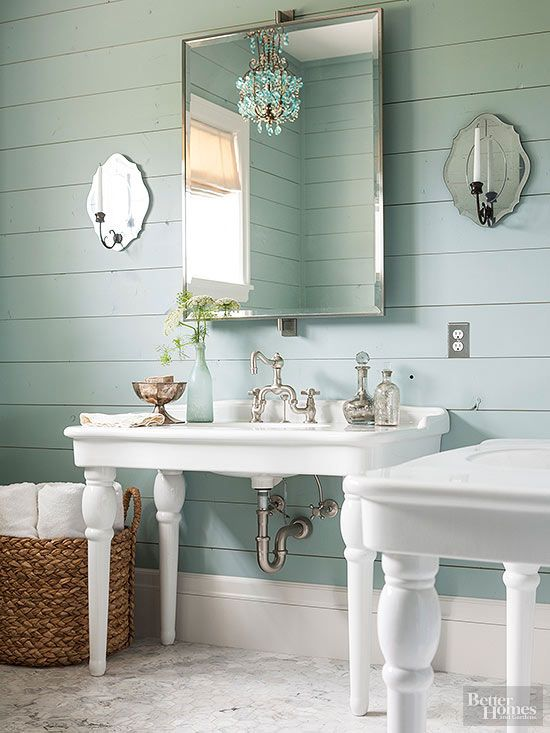 double-sink vanity when you can opt for expansive pedestal sinks ...