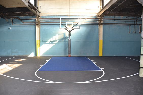 Warehouse Indoor Basketball Court Completed By Deshayes Dream Courts In Philadelphia Pa Ha Indoor Basketball Court Basketball Court Flooring Basketball Floor