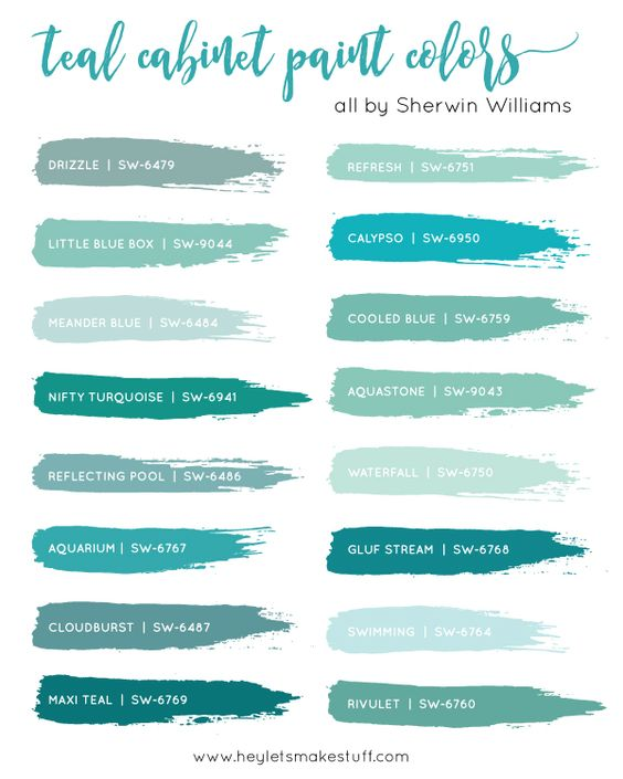 teal-cabinet-paint-colors-sw                                                                                                                                                                                 More