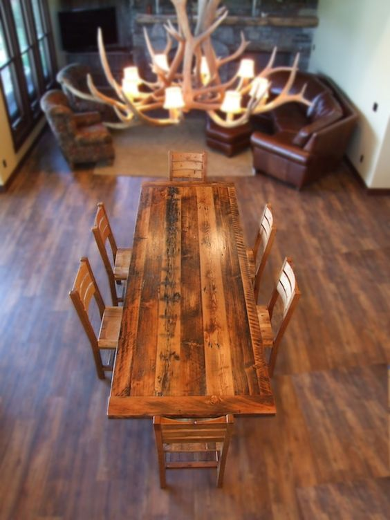 Nice Misty Mountain Furniture   Reclaimed Wood Timber Baron Dining Table