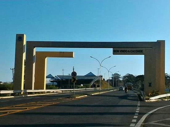 Cidade de #Caconde interior de SP -  #Portal de Entrada da Cidade #Natureza