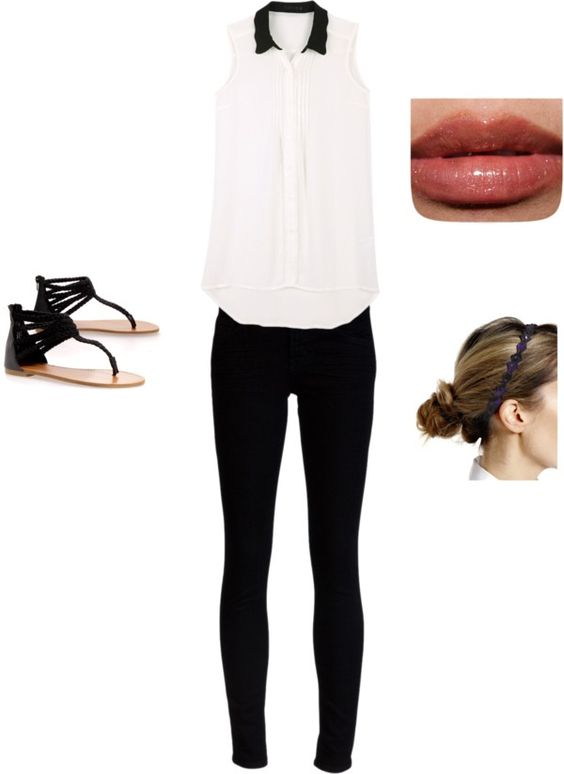 """""""Black and White"""" by lu-ribeiro ❤ liked on Polyvore"""