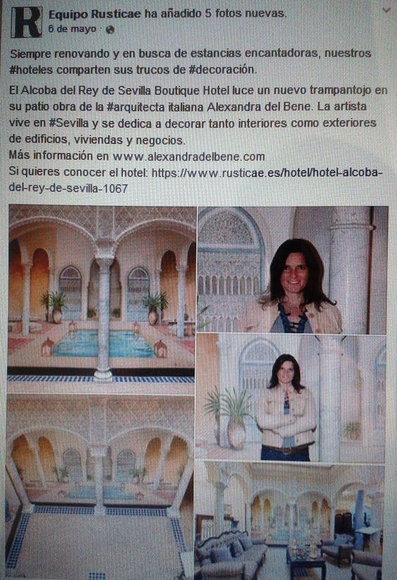 Murales, Graffiti, Decoracion de Interiores, Hotel, Sevilla, Alcoba del Rey, Rusticae