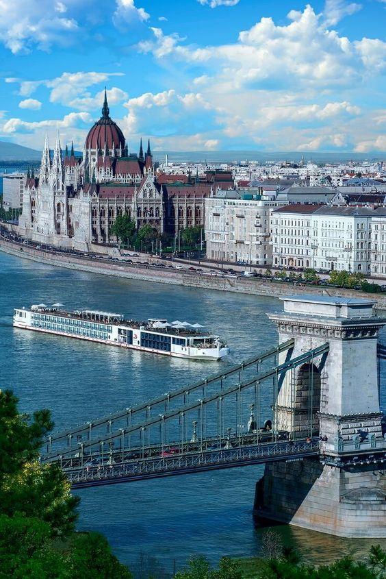 Danube river cruise, Budapest, Hungary. #danube #rivercruise #budapest #hungary #parliament