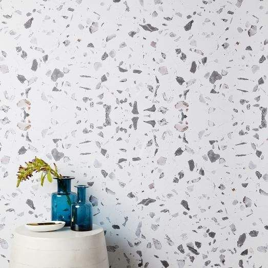 West Elm Chasing Paper Speckled Marble Removable Wallpaper White Chasing Paper Wallpaper Wallpaper Panels Removable Wallpaper
