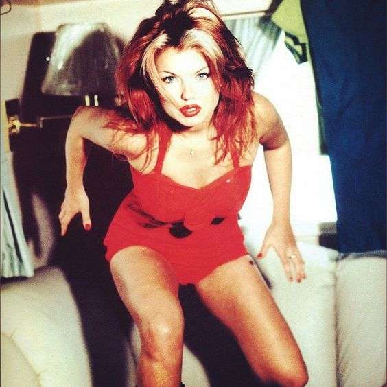 """""""Geri photographed by Dean Freeman in London during Spiceworld: The Movie on…"""
