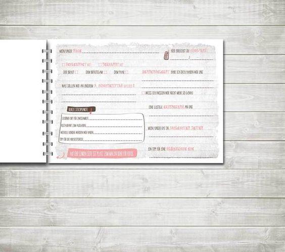 Hochzeitsgästebuch - Gästebuch Hochzeit – Größe A4 quer - ein Designerstück von nordencreativ-design bei DaWanda