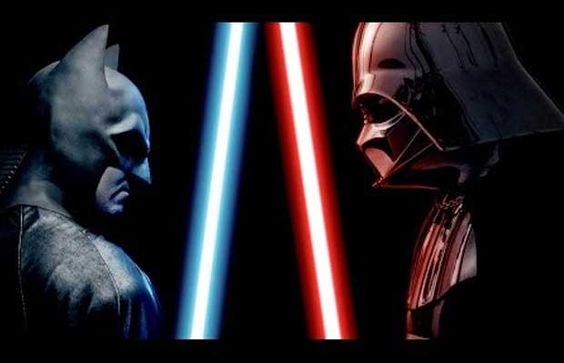 Batman contre Dark Vador, qui va remporter le duel