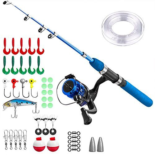 Kids Fishing Pole,Light and Portable Telescopic Fishing R