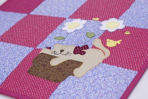 Patchwork Tapete Cozinha Passo A Passo : Arte Brasil Tapete Patchwork com Aplica??o – Renata Silva
