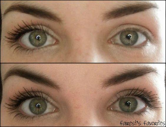 loreal voluminous million lashes mascara before and
