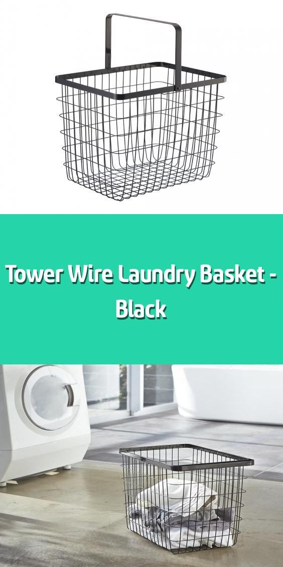 Tower Wire Laundry Basket Black In 2020