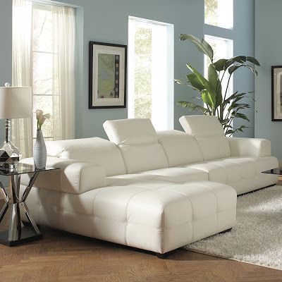 Coaster Home Furnishings 503617 Contemporary Sectional Sofa, White