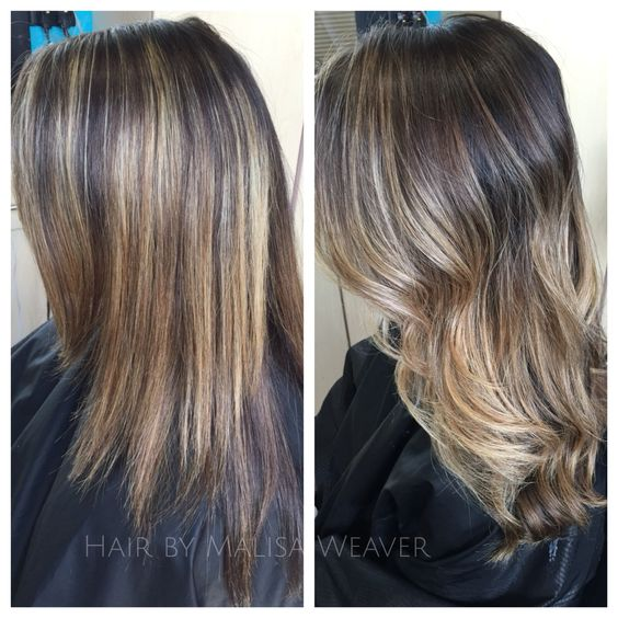 Balayage Brunette Before And After