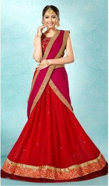 Red Color Georgette Circular Style Party Wear Lehenga Choli | FH514078224 #heenastyle, #designer, #lehengas, #choli, #collection, #women, #online, #wedding , #Bollywood, #stylish, #indian, #party, #ghagra, #casual, #sangeet, #mehendi, #navratri, #fashion, #boutique, #mode, #henna, #wedding, #fashion-week, #ceremony, #receptions, #ring , #dupatta , #chunni , @heenastyle , #Circular , #engagement
