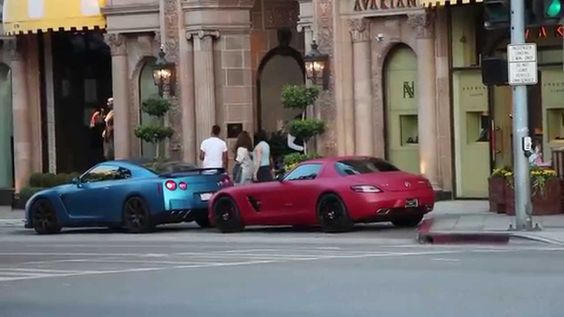 Crazy Supercars in Beverly Hills 2014