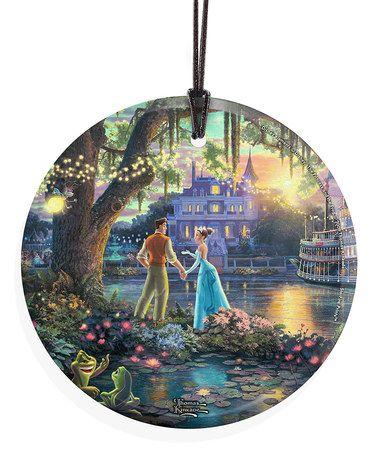 The Princess & the Frog Glass Ornament #zulily #zulilyfinds