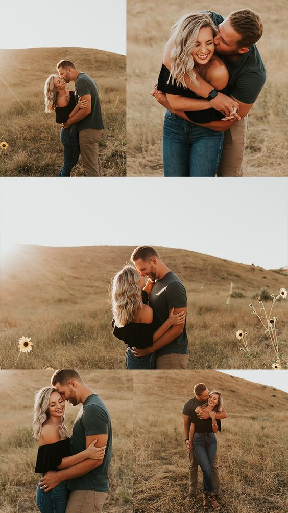 Boise Foothills Engagement Session | Idaho Wedding Photographer | Summer Engagement Session | Sunflower field engagement photos | Outfit Inspo for couples | Couples Posing Ideas | Couples Photos | @carrierogersphotography | #couples #love #relationshipgoals #engaged #engagementphotos #loveandwildhearts