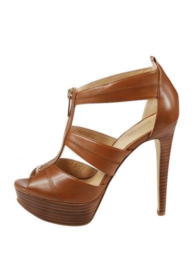 MICHAEL KORS Michael Kors Sandalo Berkley Platform Zip Anteriore. #michaelkors #shoes #sandals