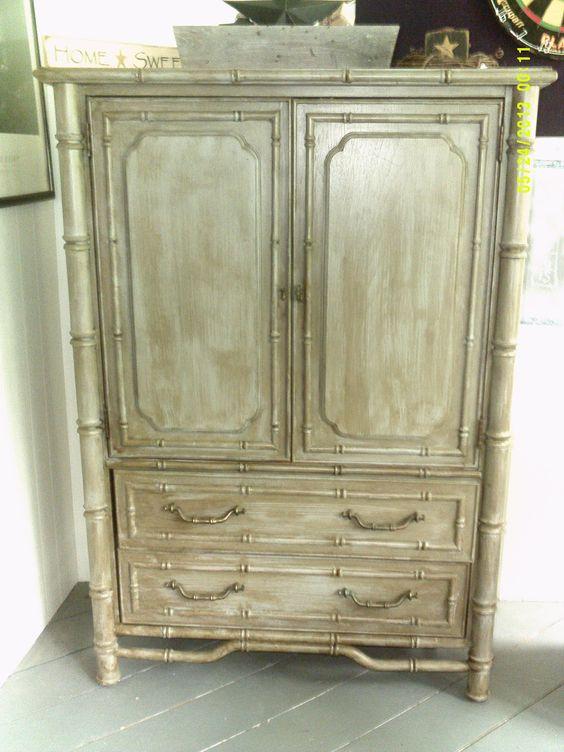 grey primitive armoire