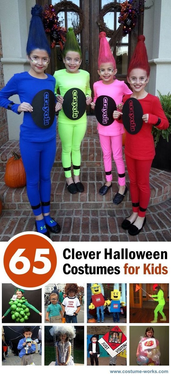 65 Clever Halloween Costume Ideas for Kids - #Goodwill is your #Halloween Costume Headquarters! www.goodwillvalleys.com/shop/: