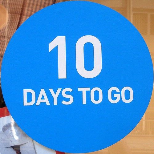 Countdown 10 More Days Its november 16. 10 more days after mine it ...
