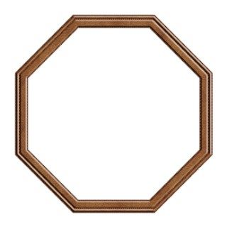 Octagon Shape Brown Leather Picture Frame Png Frames