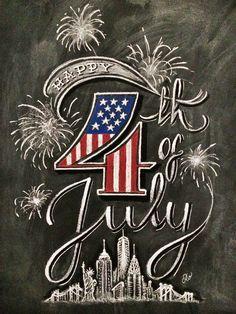 Happy 4th of July chalkboard idea